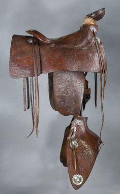 Olsen-Nolte Figural Saddle - Old West Events