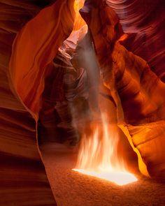 Canyon Flame by Richard  Bernabe, via 500px [Upper Antelope Canyon, Arizona]