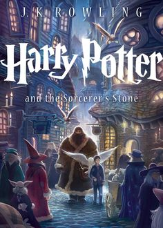 """""""Today, Scholastic unveiled an all-new cover for Harry Potter and the Sorcerer's Stone! And better yet, it's just the first of seven (7!) new covers that will appear on U.S. trade paperback editions coming in September 2013. It's all part of the upcoming 15th anniversary of the U.S. publication of Harry Potter and the Sorcerer's Stone, the first book in J.K. Rowling's best-selling Harry Potter series."""" [x]  Artwork by:Kazu Kibuishi"""