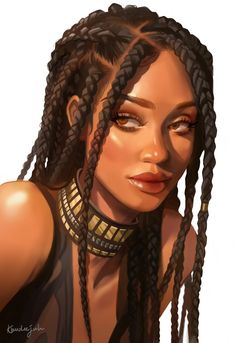 Art Black Love, Black Girl Art, Character Portraits, Character Art, Female Character Concept, Fantasy Character Design, Pretty Art, Cute Art, Bel Art
