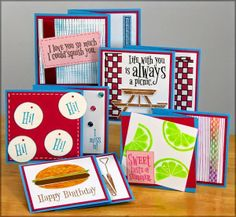 Picnic Greetings to Go Guest Artist - a total of 15 picnic themed cards with technique descriptions