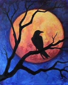 Halloween painting, halloween art, paint and sip, autumn art, autumn pa Halloween Painting, Halloween Art, Autumn Painting, Autumn Art, Easy Paintings, Pictures To Paint, Art Plastique, Easy Drawings, Rock Art