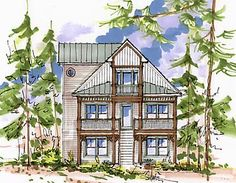 Petit Soleil model by Beaver Homes and Cottages  Includes virtual    Sycamore Cottage    Good layout    eliminate the bottom floor x footprint