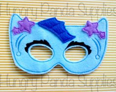 Kitty Cat Sleep Mask Embroidery Design by HappilyAfterDesigns