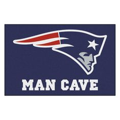 New England Patriots Man Cave Starter Rug 19x30