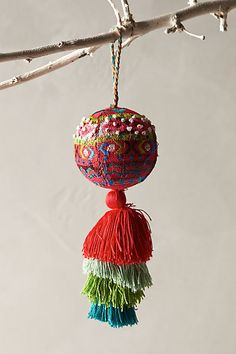 embroidered air balloon ornament #christmasdecor #freeshipping #anthrofave