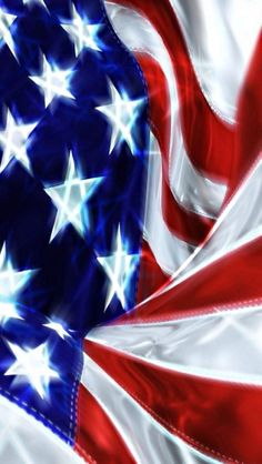 The Red, White and Blue of the American Flag