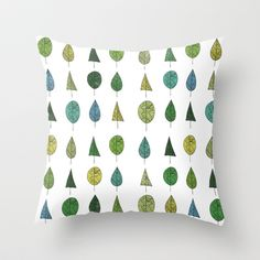TREES MAKE A FOREST Throw Pillow by Matthew Taylor Wilson - $20.00