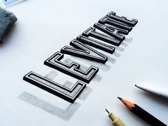 Drawing Design LEVITATE handlettering handdrawn typography lettering - When lettering defies gravity. Calligraphy Letters, Typography Letters, Graphic Design Typography, Lettering Design, Handwritten Typography, 3d Letters, Typography Inspiration, Graphic Design Inspiration, Types Of Lettering