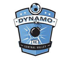 custom soccer logo design for dynamo soccer by jordan fretz design Basketball Logo Design, Soccer Logo, Hockey Logos, Sports Team Logos, Basketball Teams, Rb Logo, Athletics, Branding, Identity