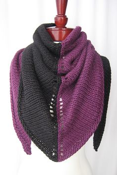 Free Pattern: Two-Face Triangle Shawl