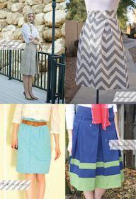 LOVE the chevron skirt