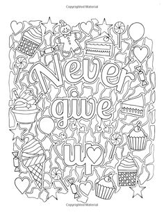 Inspirational coloring book: for fun and relaxation: Edwina Mc Namee Love Coloring Pages, Free Adult Coloring Pages, Printable Coloring Pages, Coloring Sheets, Coloring Books, Color Quotes, Mandala Coloring, Colorful Drawings, Doodles