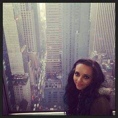 Via @littlemixofficial Instagram; Up in the clouds for our last bit of promo at @MTV in NYC :)  xxjadexx