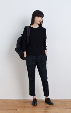 MUJI | WASHABLE WOOL STRETCH EASY ANKLE TROUSERS (PATTERN) | RUCKSACK WITH SIDE ZIP POCKET