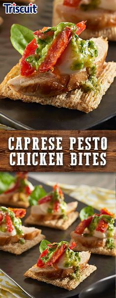 Looking for a fresh take on caprese this summer? Try our simple recipe for Caprese Pesto Chicken Bites. Bursting with rich Italian flavors like basil, tomato, and mozzarella with the perfect crunch of whole grain TRISCUIT Crackers. Great for a crowd and is ready in just 10 mins!