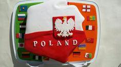 Shape,flag Poland cake
