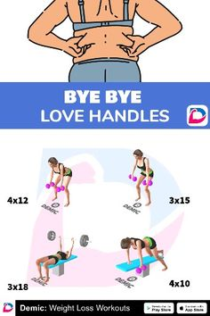 Fitness Workout For Women, Fitness Tips, Fitness Motivation, Health Fitness, Butt Workout, Gym Workouts, At Home Workouts, Love Handle Workout, Back Exercises
