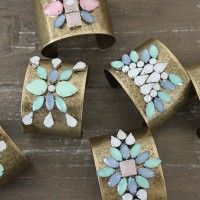 DIY GEM EMBELLISHED CUFFS