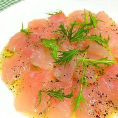 火曜特売にて鮮魚半額… マグロをゲット - 173件のもぐもぐ - マグロのカルパッチョ✨ by riskycat