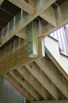 Attaching Bottom Deck Posts | THISisCarpentry #deckconstruction