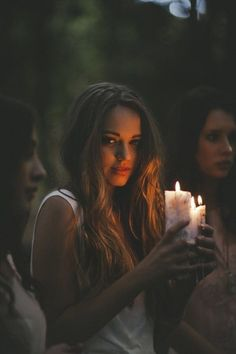 cute girl with candle