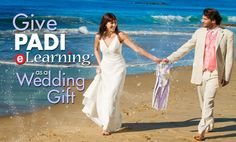 Wedding season has arrived and you're not sure what gift to give. Why not give the gift of SCUBA to the bride and groom affording them the opportunity to explore the wonderful underwater world as they set on their honeymoon to a beautiful exotic location with white beaches and sparkling blue waters. Click here to find out more - http://divelife.co.za/padi-elearning-wedding-gift