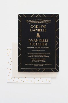 956 best wedding invitations images on pinterest wedding black and gold invitations stopboris Image collections