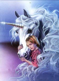 Unicorn & boy have a strong bond