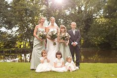sage green // wedding party // Lesley & Andrew's wedding: crafted with love