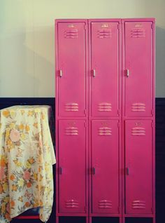 i'm on the hunt for lockers for our school room (to replace ikea bookshelves)