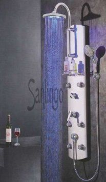 Shower Panel in Aluminium with LED from Sanlingo: Amazon.co.uk: Kitchen & Home