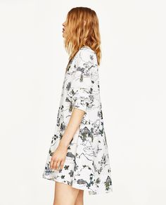 PRINTED DRESS WITH ZIP