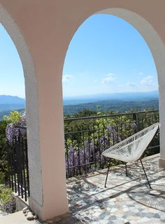 A fine April day on our porch here at Villa degli Armeni, in the Sabina, near Rome, Lazio, Italy, with the birds singing and the wisteria blooming  .................  Villa degli Armeni: private villa rental Italy