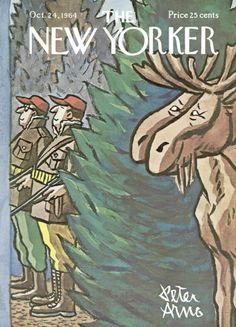 Peter Arno : Cover art for The New Yorker 2071 - 24 October 1964