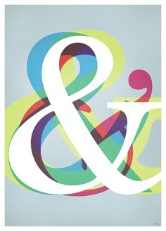 Wall poster Ampersand A2 or A3 print illustration by 84Posters