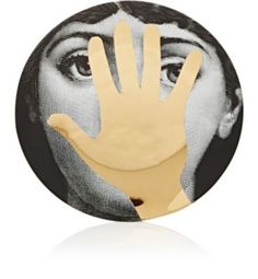 """Fornasetti """"Hand Over Face"""" Plate at Barneys New York"""