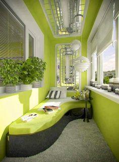 Terraza con asiento