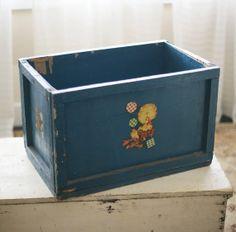 vintage toy box by sadieolive on Etsy, $95.00