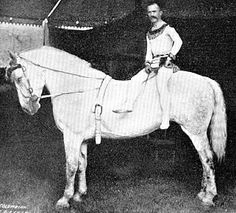 Carl Fish was a daredevil acrobat and bareback horse performer on Ringling Bros.Circus. (1894)