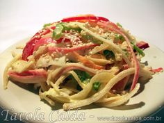 Salada de Kani Kama com Pimentão