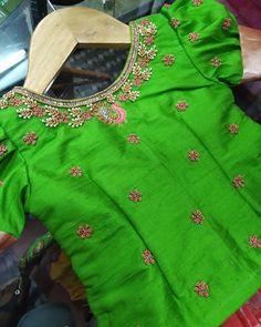 No photo description available. Source by doppalapudisrav Blouses Kids Party Wear Dresses, Kids Dress Wear, Kids Gown, Dresses Kids Girl, Kids Outfits, Kids Blouse Designs, Hand Work Blouse Design, Simple Blouse Designs, Bridal Blouse Designs