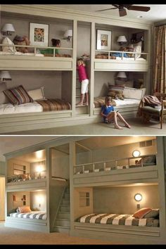 Ohhhh the fun my kids would have. You'd be voted best parent for a bedroom wall like that. Cool Girl Bedrooms, Kids Bedroom, Kids Rooms, Bedroom Ideas, Childrens Bedroom, Extra Bedroom, Shared Bedrooms, Bedroom Decor, Room Boys