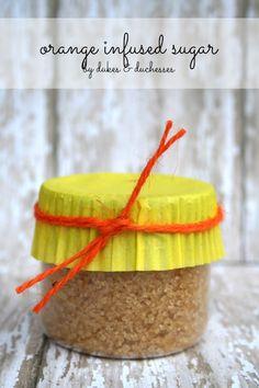 two-ingredient orange infused sugar