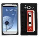 Samsung Galaxy S3 Black Retro Cassette Skin Cover
