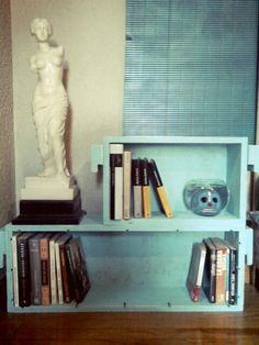 Libreros on pinterest modern bookshelf pallet bar and for Libreros modernos