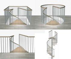 Escalier en colimaçon KLOÈ - Escaliers - L'Echelle Européenne
