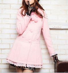 Adorable pink winter coat