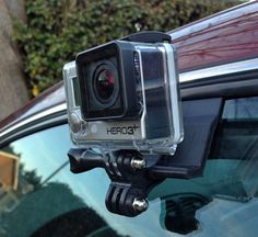 Brian Martin is raising funds for The Window-Wedge: A simple GoPro Car Mounting System on Kickstarter! A versatile easy to use, secure car window mounting system for the GoPro action camera. Gopro Camera, Car Camera, Camera Gear, Gopro Diy, Gopro Drone, Gopro Ideas, Gopro Helmet, Gopro Action, Gadgets