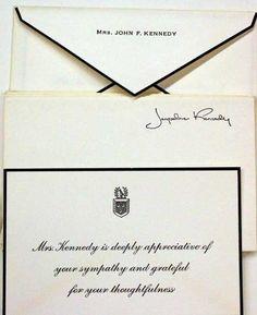 Jackie Kennedy's stationery